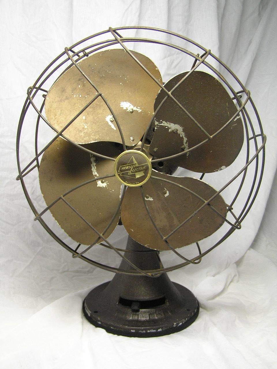 Emerson Desk Fan : Emerson an pre antique fan